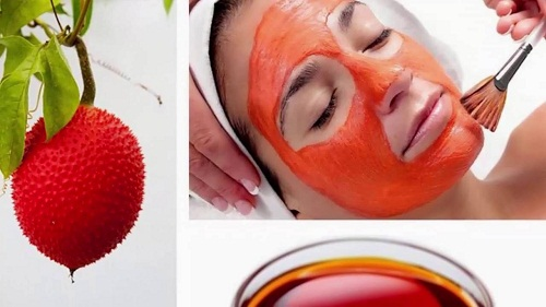 Cách làm mờ tàn nhang bằng tinh dầu gấc trên mặt