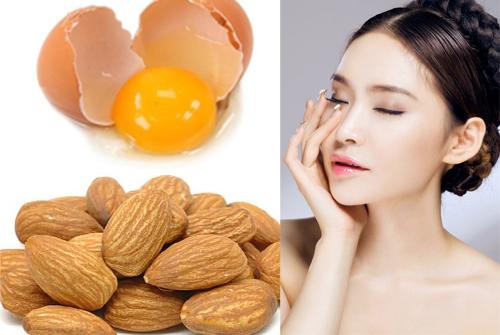 Mặt nạ thuốc bắc trị nám và tàn nhang bằng trứng gà và hạnh nhân