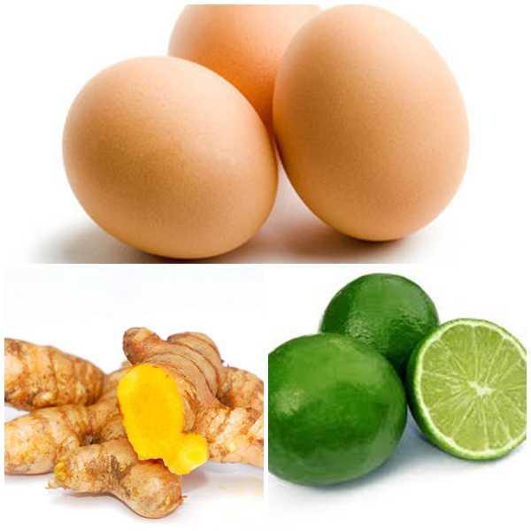 Trị tàn nhang bằng nghệ tươi, trứng gà và chanh tươi