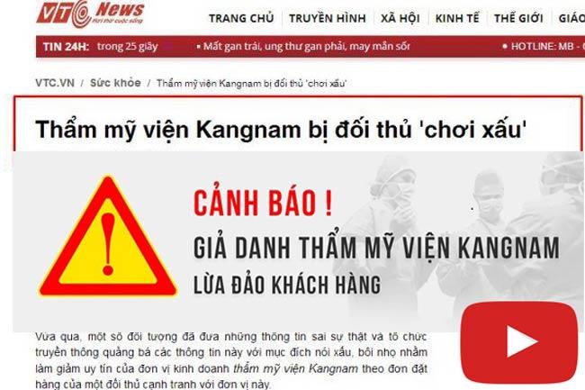 Video thẩm mỹ viện Kangnam biên hòa đồng nai là giả mạo
